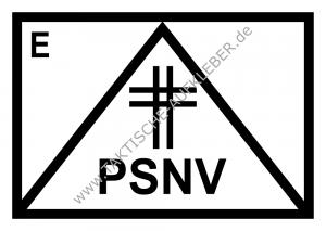 Taktisches Symbol PSNV-E mit Kreuz Notfallseelsorge
