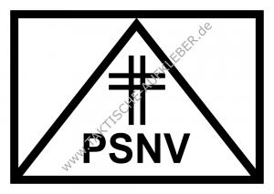 Taktisches Symbol PSNV mit Kreuz Notfallseelsorge